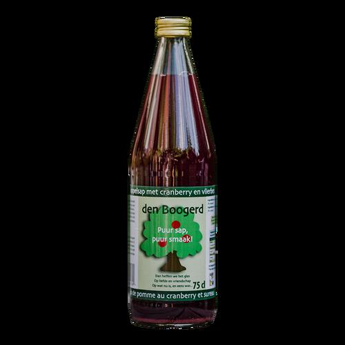 Appelsap met cranberry en vlierbessen